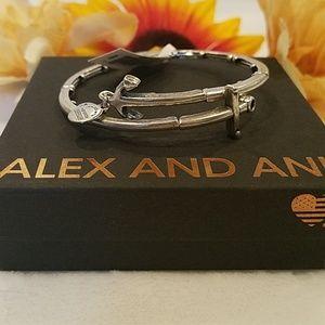 Alex and Ani Anchor wrap bracelet